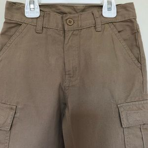 Boys Khaki Cotton Cargo Trouser by American Hawk